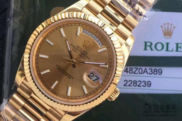 劳力士日志系列116233香槟盘钻石手表使用手表回收价格如何